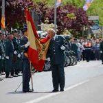 Campo de Criptana rinde homenaje a la bandera de España y a la Guardia Civil en su 174 aniversario