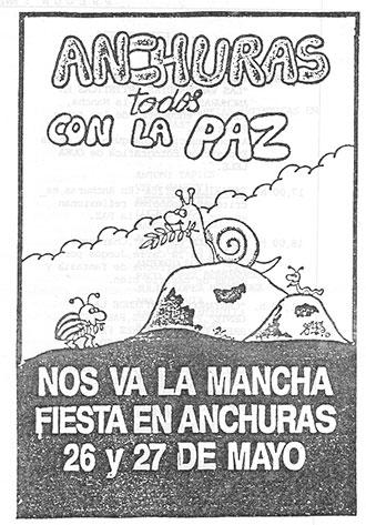 Folleto repartido en la provincia de Ciudad Real durante mayo de 1989