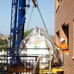 Instalado el nuevo electroimán de la resonancia del hospital de Puertollano, que funcionará a mediados de julio
