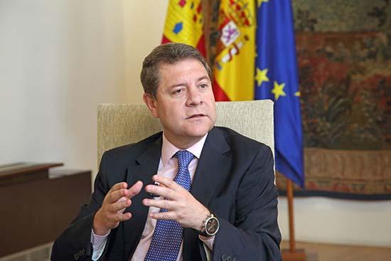 Toledo, 7-06-2018.- El presidente de Castilla-La Mancha, Emiliano García-Page, durante una entrevista en el Palacio de Fuensalida. (Foto: Álvaro Ruiz // JCCM)