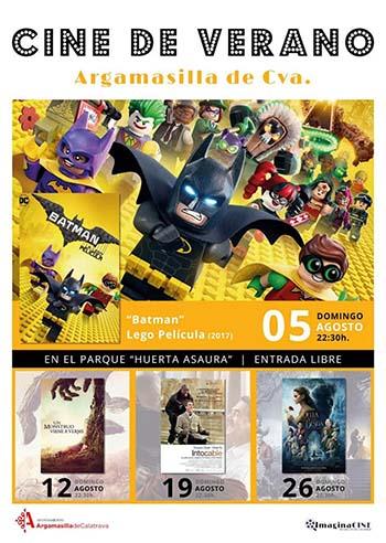 Cartel promocional del cine de verano rabanero