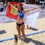 Aldea del Rey: Paula Morales Serrano, campeona de España juvenil de balonmano playa con la selección de Castilla-La Mancha