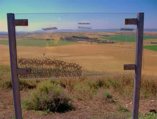 Vista del campo de batalla desde el lado cristiano, donde estaría la Caballería pesada cristiana