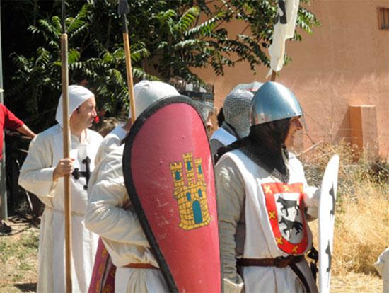 """Recreación de los últimos momentos del Rey Alfonso VIII a cargo del grupo de Recreación Histórica de Ciudad Real """"Alarcos"""" en 2017"""