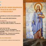 La Poblachuela celebra Santa María Magdalena con un fin de semana cargado de actividades