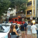Ciudad Real: Los bomberos acuden a la Plaza Mayor ante la caída de cascotes desde la Casa Consistorial