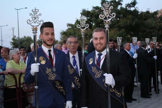 Caballeros de la Virgen de Gracia, momentos antes de la procesión de septiembre de 2017