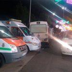 Dos personas fueron trasladadas al hospital, una de ellas por traumatismo cráneo-encefálico, en la séptima noche de Feria