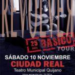 Ciudad Real: Revólver actuará el 10 de noviembre en el Quijano