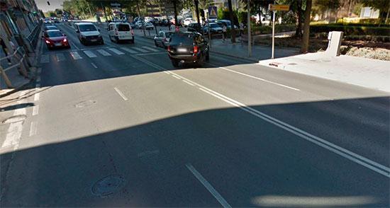 Ronda del Carmen a la salida de la calle del Carmen. Foto:  Google Maps