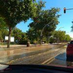 Ciudad Real: La rotura de una tubería inunda la ronda del Parque