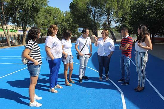 Olmedo-visita obras CEIP de Herencia