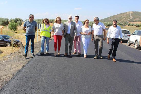 Olmedo-visita obras CM-4115 Villamayor de Cva