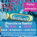Puertollano: Porrascazos Blu Bla organiza este sábado una fiesta del agua en el recinto ferial