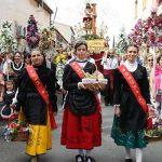Las fiestas patronales de Bolaños vivieron su día grande con la procesión de las alabardas del Cristo de la Columna