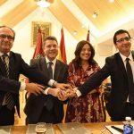 Ciudad Real: Zamora y García-Page firman el acuerdo de cesión de los terrenos anexos al edificio de Sanidad para construir unos jardines
