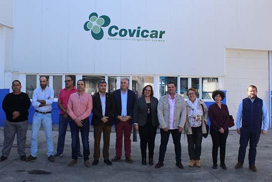 Carmen Olmedo visita Covicar