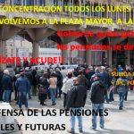 Ciudad Real: Las concentraciones por unas pensiones dignas vuelven a la plaza Mayor