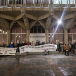 Ciudad Real: El aguacero no desalienta a la Coordinadora, que se desmarca de cualquier partido político creado en torno a las pensiones