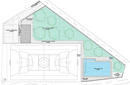 Plano ubicación nueva piscina San Benito