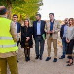 Jiménez y Caballero visitan las obras de remodelación del tramo urbano de la carretera de Ossa de Montiel