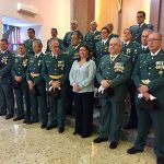 Puertollano:Mayte Fernández acompaña a la Guardia Civil en el día de su Patrona