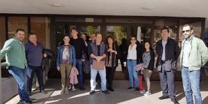 Concentración sindical en el Ayuntamiento de Puertollano (archivo)