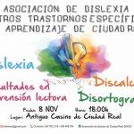 El Antiguo Casino acoge el próximo 8 de noviembre la presentación de la Asociación de Dislexia de Ciudad Real