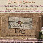 Ciudad Real: Círculo de silencio contra la guerra en Yemen