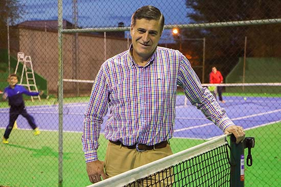 Jacinto Arriaga, en las instalaciones del complejo polideportivo rabanero