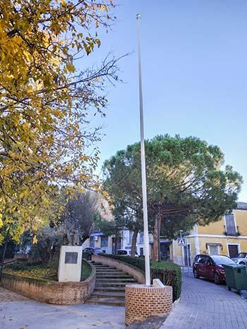 Lugar habilitado para el homenaje permanente a la Constitución y la bandera de España