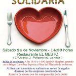 La Junta Local de Puertollano de la Asociación Española Contra el Cáncer celebrará el próximo 24 de noviembre la tradicional comida solidaria