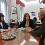 Herreros, con miembros de la Junta Directiva de la Asociación de Periodistas de Ciudad Real