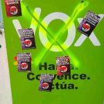 Ciudad Real: Pegatinas antifascistas en la sede de VOX