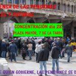 Comunicado: Vigésima concentración en defensa de pensiones dignas para ahora y para el futuro