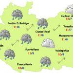 Más lluvias y viento este miércoles y jueves en Ciudad Real