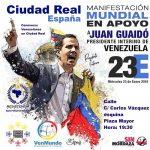 Comunicado: Venezolanos en Ciudad Real saldrán a las calles en apoyo al presidente interino Juan Guaidó este miércoles