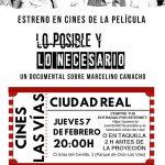 """Ciudad Real: Las Vías acogerá la proyección del documental """"Lo posible y lo necesario"""", sobre la vida de Marcelino Camacho"""