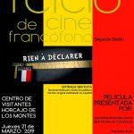 Nueva sesión del Ciclo de Cine Francófono de Horcajo de los Montes