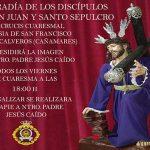 Puertollano: La Cofradía de los Discípulos de San Juan y Santo Sepulcro inicia sus viacrucis cuaresmales