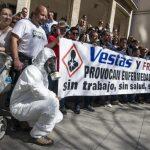 """Extrabajadores de Vestas Afectados por Resina Epoxi e Isocianatos denuncian ser víctimas de una """"injusticia"""""""