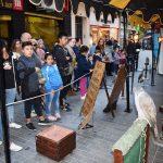 Puertollano: Recreaciones, puestos artesanos y cetrería en el Mercado de la Independencia
