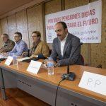 Ciudadanos, Unidas Podemos y Partido Socialista debaten sobre el futuro de las pensiones