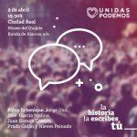 Pablo Echenique participa este martes en un acto de Unidas Podemos en Ciudad Real