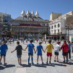 Ciudad Real: Un gran círculo para poner el foco sobre los síntomas invisibles de la Esclerosis Múltiple