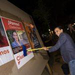 Ciudadanos inicia la pegada de carteles en los Jardines del Prado