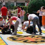 Ciudad Real: Cinco alfombras de sal adornarán el domingo el paso de la procesión del Corpus Christi