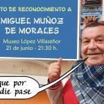 El mundo de la cultura ciudadrealeña rendirá un homenaje a Miguel Muñoz de Morales