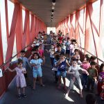 Puertollano: Alumnos del Menéndez Pelayo piden a los ciudadanos que cuiden y respeten la pasarela de Las Mercedes