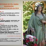 La Poblachuela celebra este fin de semana la festividad de Santa María Magdalena